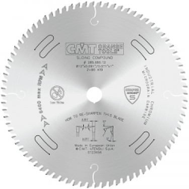 CMT ORANGE CHROME Fine Finish Sliding and Miter Saw  Blade