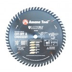 Amana Carbide Tipped Cut-Off and Crosscut 10 Inch Dia x 60T ATB, 10 Deg, 5/8 Bore
